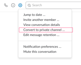slack direct message to private channel